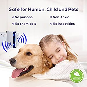 Pest Reject Ultrasonic Repeller, Best Electronic Pest Repeller Plug In - Pest Repellent for Anti Mice, Ants, Cockroaches, Mosquitoes, Spiders, Safe, Non-toxic, Double waves, Nightlight, White (2 PACK)
