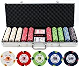 13.5g 500pc Monaco Casino Clay Poker Chips Set (Small Image)