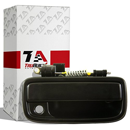 T1A 1995-2004 Toyota Tacoma Exterior Door Handle Replacement, Fits Outside Front Right Passenger's Side, Black Color, T1A 69210-35020