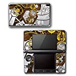 Art Abstract Steampunk Gear Machine Video Game Vinyl Decal Skin Sticker Cover for Original Nintendo 3DS System 4
