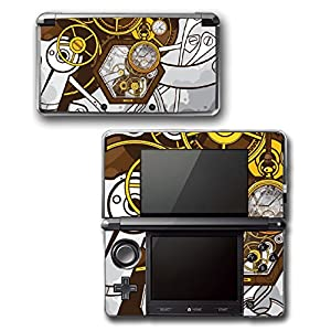 Art Abstract Steampunk Gear Machine Video Game Vinyl Decal Skin Sticker Cover for Original Nintendo 3DS System