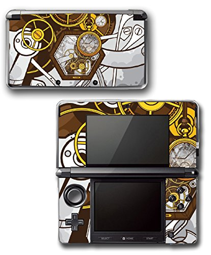 Art Abstract Steampunk Gear Machine Video Game Vinyl Decal Skin Sticker Cover for Original Nintendo 3DS System 3