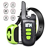 Training Dog Collar - Shock Collar for Dogs Dog Shock Collar with Remote1500FT Dog Training Collar for Large Dogs or Small Dogs 100% Waterproof , Beep, 9 Levels Vibrate and Shock, USB Charging