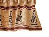 Your Heart's Delight Animal Stack Farm Life Valance, 44 by 18-Inch