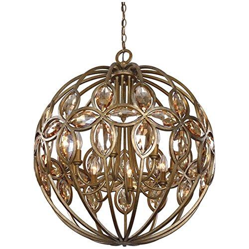 Uttermost 21269 Ambre 8 Light Sphere Chandelier, Gold