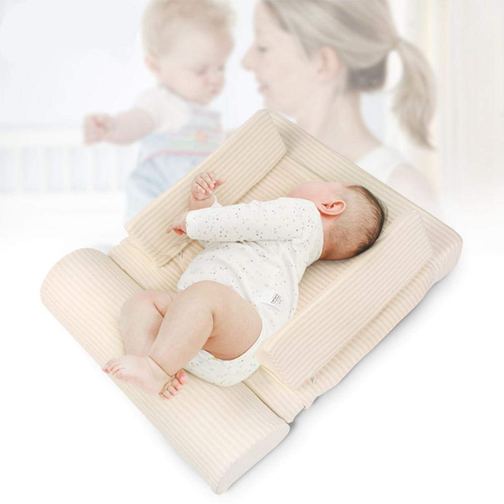 White Prevention of Spilled Milk OKlife Baby Infant Seat Lounger,Luxury Baby Head and Body Support Stereotyped Pillow