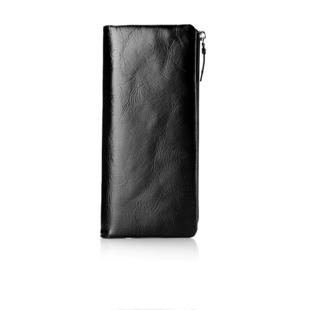 Susanxiao Herrenbrieftasche Herren Leder Brieftasche Casual Handtasche Leder Leder Leder Zipper Wallet Lange Brieftasche Krotitkarteninhaber-Geldbörse B07MQYS445 Geldbrsen 1e6ebe