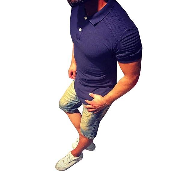 Polo, Camisetas, Blusa, BaZhai, Camisetas de Hombre Personalidad de la Moda Cubren