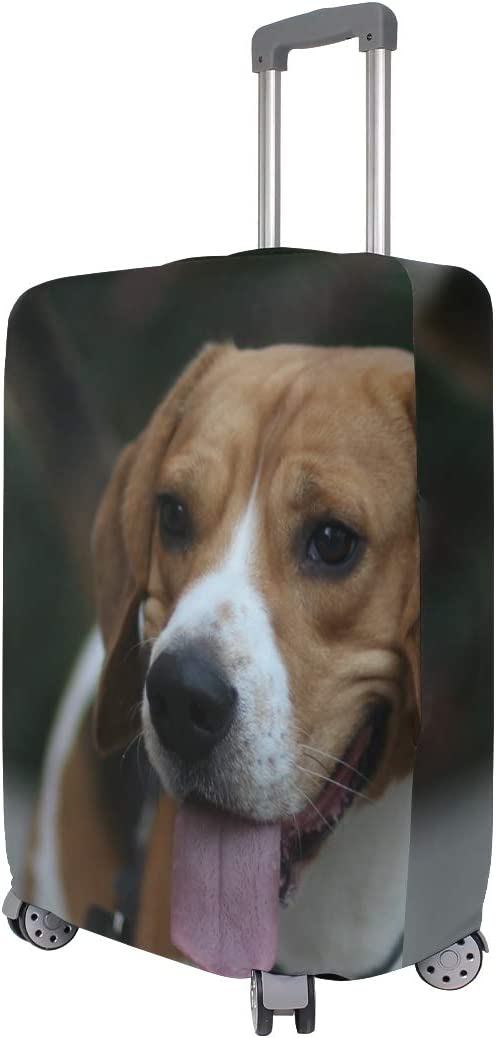 Travel Luggage Cover Little Beagle Sticking Tongue Out Suitcase Protector
