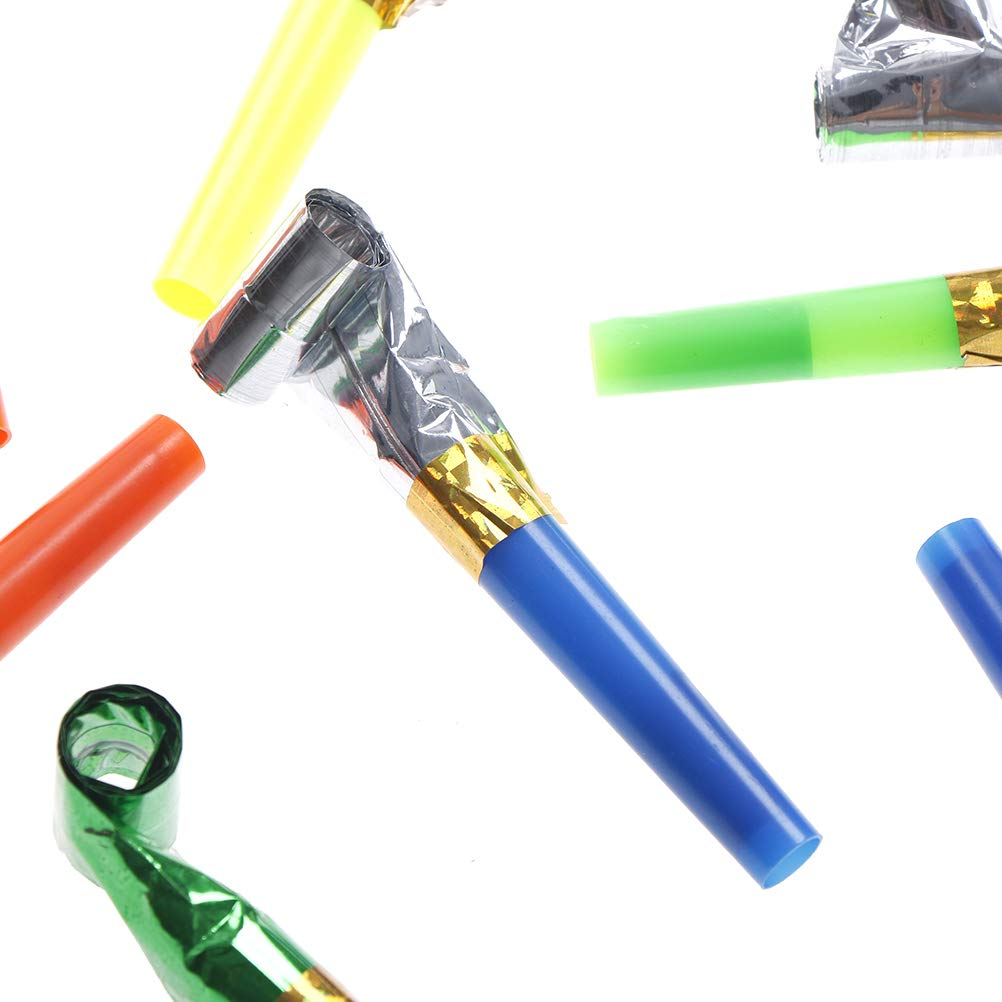 20Pcs small multi color party blowouts whistles kids birthday party toys gift /_T