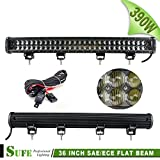 SUFE 36 INCH 390W Osram LED Light Bar For Offroad Truck Tractor Jeep SUV ATV Boat 4X4 4WD Driving Lights 78*5W Waterproof IP68 Free Wire Harness