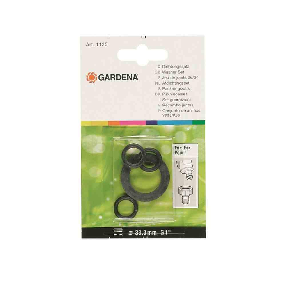 Gardena Washer Set: Sealing ring range for replacing old seals, for the Tap Connector Art. No. 18201 and 18241 (1124-20) 01124-20