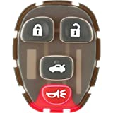 Discount Keyless Replacement 4 Button Pad 15252034 22733523