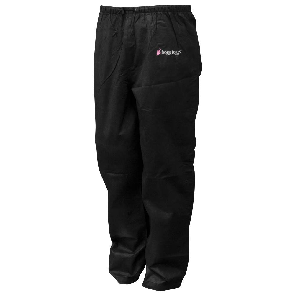 Frogg Toggs Pro Action Water-Resistant Rain Pant, Women's, Black, Size X-Large by Frogg Toggs