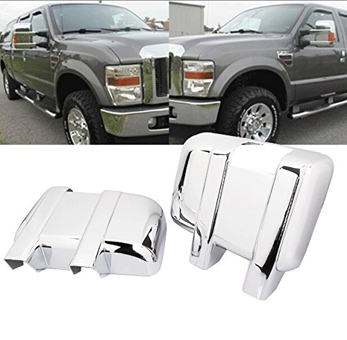 99Parts Chrome ABS Side Door Full Towing Mirror Covers for Ford F250 F350 F450 Super Duty 2008-2016