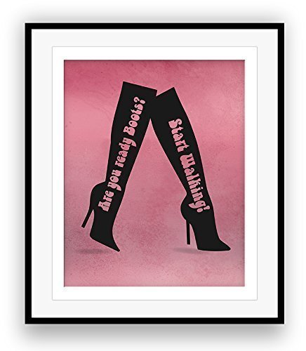 aa3af29edbc Amazon.com  THESE BOOTS ARE MADE FOR WALKING by Nancy Sinatra   Song Lyric  Poster Illustration  Handmade