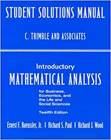 introductory mathematical analysis 12th edition pdf free