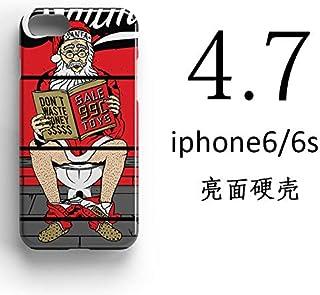 ERQINGT Etui pour Téléphone Portable Personnalité pour Iphone8Plus Mobile Shell Creative Santa Apple X Coque De Protection 6S Slim 7 Demi-Pack Coquille Dure