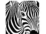Zebra Head Vinyl Wall Art Decal Sticker