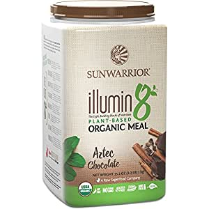 Sunwarrior - Illumin8, Plant-Based Organic Meal, Aztec Chocolate, 25 Servings