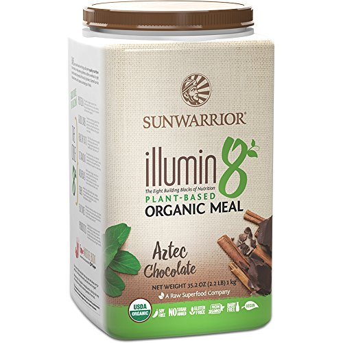Sunwarrior - Illumin8, Plant-Based Organic Meal, Aztec Chocolate, 25 Servings (2.2 lbs)