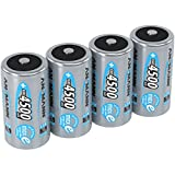 ANSMANN Rechargeable C Batteries 4500mAh maxE ready2use NiMH Professional C Battery pre-charged Power Accu for flashlight etc. (4-Pack)