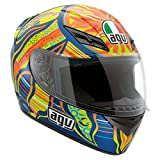 AGV K3 5-Continents Full Face Motorcycle Helmet (Multicolor, Medium)