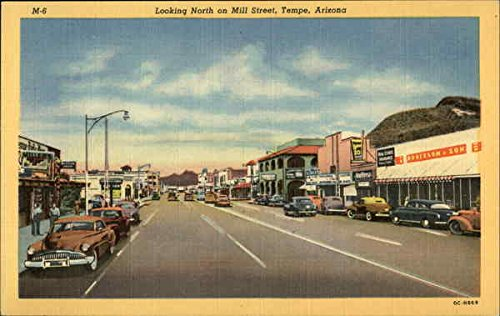 Looking North of Mill Street Tempe, Arizona Original Vintage - Tempe Arizona Mills