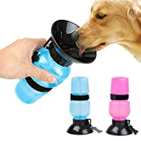 SRI Travel Pet Dog Water Bottle Mug Cat Puppy Hydrated On The Go (Blue)