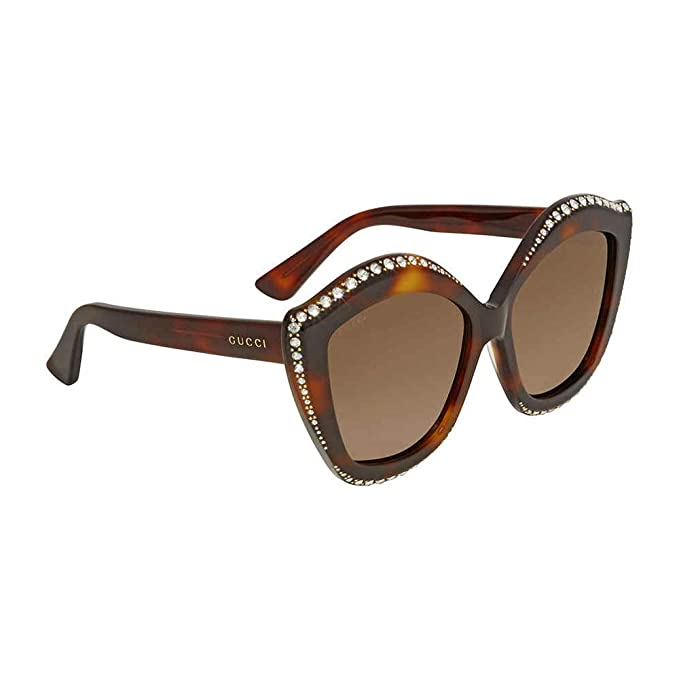 Gucci GG0118S 003 Gafas de Sol, Marrón (Avana/Brown), 53 ...