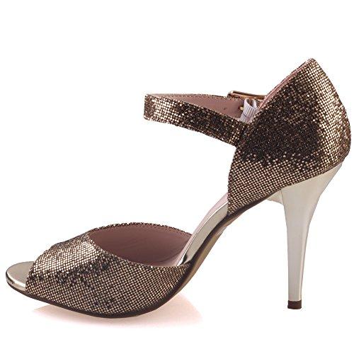 Unze Sandalias Shimmery de novia Mujeres Sasha ' Gold