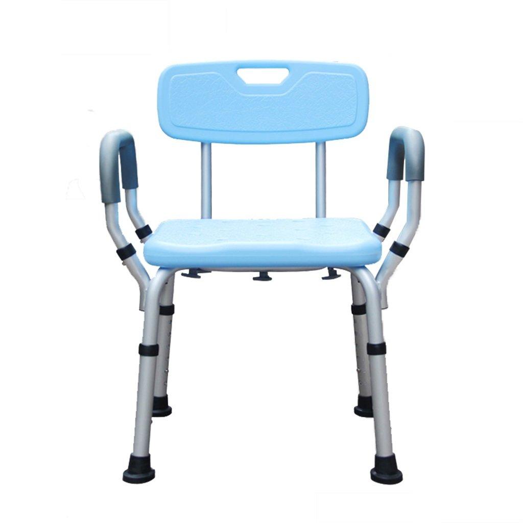 障害者のためのシャワーチェア/高齢者のためのバスルームのスツール折りたたみ式スツール取り外し可能な手すり8つの調整可能な高さ B07F3X7JZY