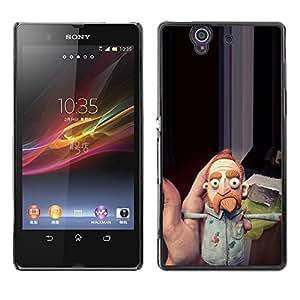 Be Good Phone Accessory // Dura Cáscara cubierta Protectora Caso Carcasa Funda de Protección para Sony Xperia Z L36H C6602 C6603 C6606 C6616 // Louie stand up comedian beard ginger