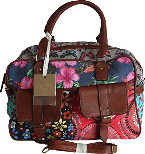 Auren - Paris, Borsa a spalla donna Multicolore multicolore