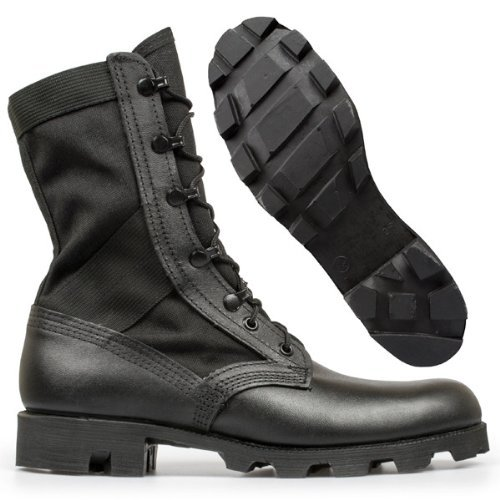 Altama Footwear Men's Jungle Boot 6853 Boots,Black Leather/Cordura Nylon,4 M -