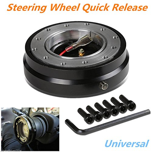 Universal Racing Quick Release Adapter Steering Wheel Hub Formular Car Boss Kit (Billet Golf Club Mirrors)