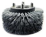 Fas-Trak MSC-076H Micro-Scrub Tynex Grit Baseboard Brush, 6'' Diameter