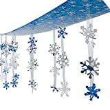 Christmas Holiday Snowflakes Ceiling Winter Decoration 12 Feet in Length!!!