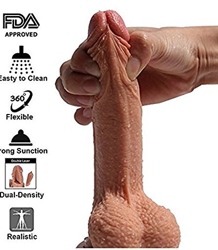 Novelties 7 inch Realistic Ultra-Soft Dld with Suction Cup Base for Hands-Free Play Pleasure