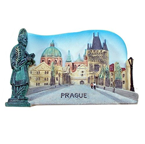 Puente de Carlos, Praga, República Checa Souvenir imán para nevera ...
