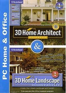 Broderbund 3D Home Architect Deluxe 5.0 U0026 3D Home Landscape Designer Deluxe  5