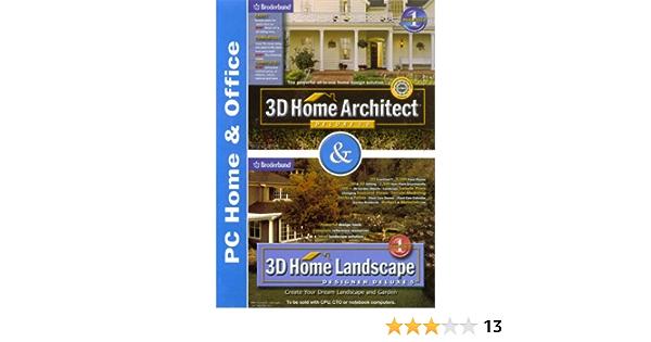 Amazon Com Broderbund 3d Home Architect Deluxe 5 0 3d Home Landscape Designer Deluxe 5