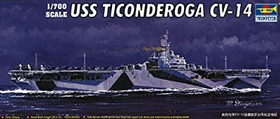 Trumpeter 1/700 USS Ticonderoga CV14 Aircraft Carrier Model Kit