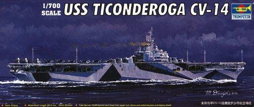 Trumpeter 1/700 USS Ticonderoga CV14 Aircraft Carrier Model Kit from Trumpeter