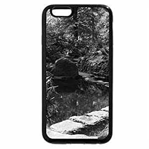 iPhone 6S Case, iPhone 6 Case (Black & White) - Peaceful Japanese Garden
