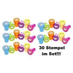 30x Multicolor sello Unicornio Niños Cumpleaños obsequios Tombola Party JGA Feier
