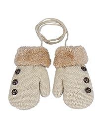 SUPPION Baby Boy Girl Winter Warm String Glove Mittens 2016