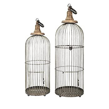 Image of Imax 40516-2 Lenore Bird Cages - Set of 2 Bird Cage Pet Supplies