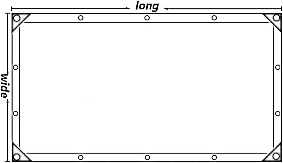 Color : Claro, Size : 2x2m BAIYING Toldo Lona Impermeable Patio Transparente Tela Impermeable Cubierta Engrosamiento Coche Hebilla De Aluminio Polietileno 20 Tallas Personalizable