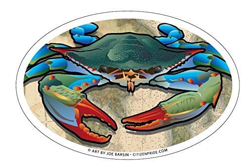 Citizen Pride Blue Crab Oval Bumper Sticker, 6 x 4 inches ()